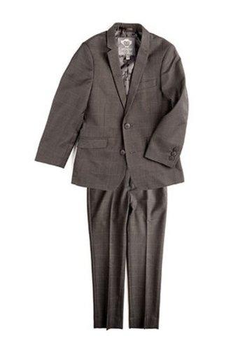 Appaman Appaman Mod Boys Slim Suit Charcoal Windowpane