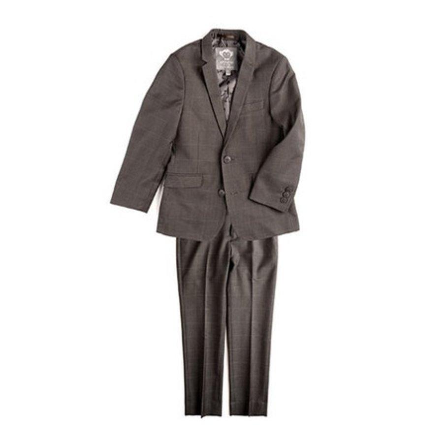 Appaman Mod Boys Slim Suit Charcoal Windowpane