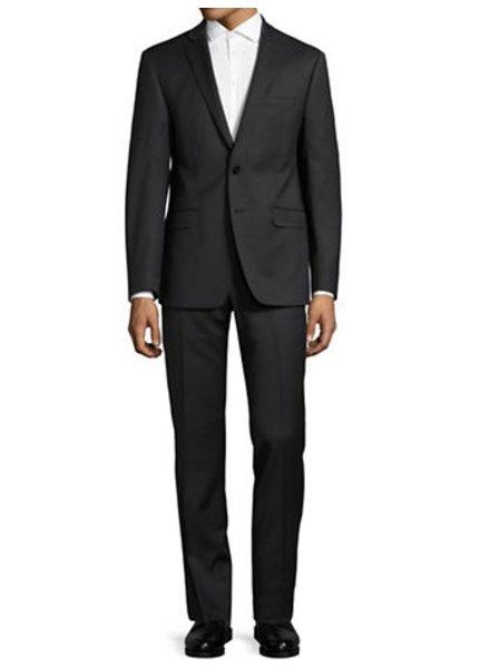 Calvin Klein NorthBoys Extreme Slim Mens Wool Black Suit 5FY0110