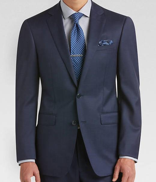 Calvin Klein NorthBoys Extreme Slim Mens Wool Navy Suit 5FY0111