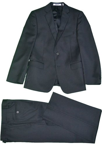 DKNY DKNY Boys Black Wool Suit Suit 161 Y0475