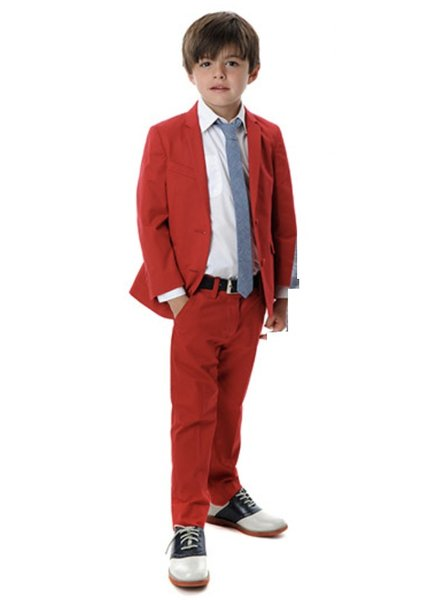 Appaman Appaman Mod Boys Slim Suit Red