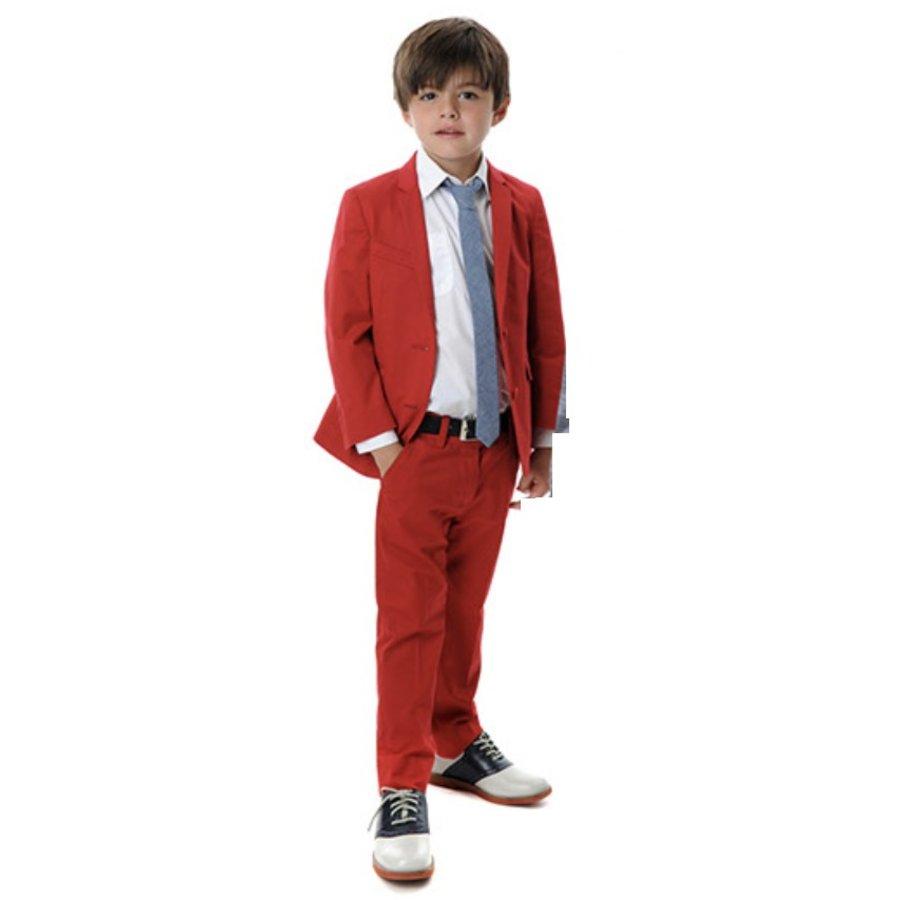 Appaman Mod Boys Slim Suit Red