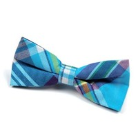 Appaman Bowtie Aqua Plaid