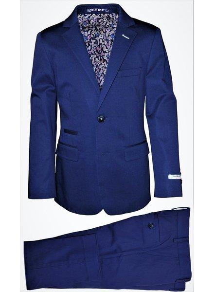 Isaac Mizrahi Isaac Mizrahi Boys Slim Cotton Suit 171 ST2078