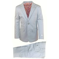 Isaac Mizrahi Boys Slim Cotton Suit