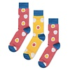 Odd Pears Odd Pears - Two coral socks one mustard sock