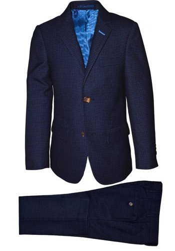 Isaac Mizrahi Isaac Mizrahi Boys Slim Suit Mini Checks