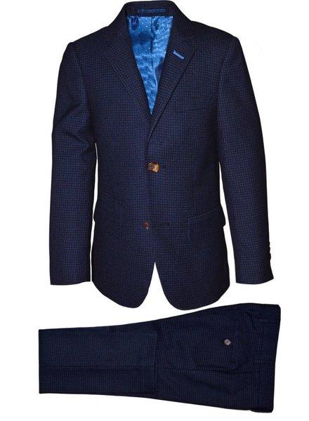 Isaac Mizrahi Isaac Mizrahi Boys Slim Suit Mini Checks 171 ST2055