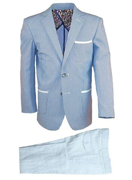 Isaac Mizrahi Isaac Mizrahi Boys Slim Linen Blazer and Pant 171 ST2089-N