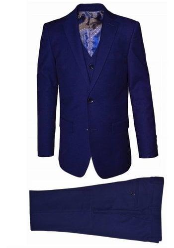 Isaac Mizrahi Isaac Mizrahi Boys Slim 3 Piece Suit Micro Gingham 172 ST2069