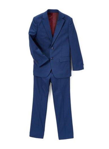 Isaac Mizrahi Isaac Mizrahi Boys Slim 3 Piece Suit Birdseye 172 ST3045