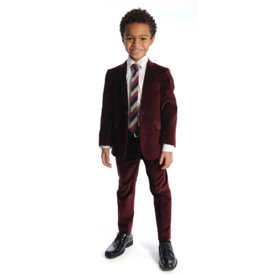 Appaman Mod Boys Slim Red Velvet Suit Q8SU7