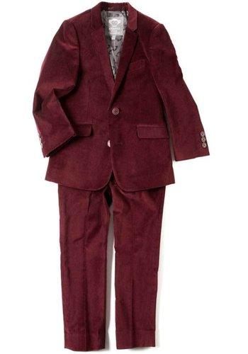 Appaman Appaman Mod Boys Slim Red Velvet Suit