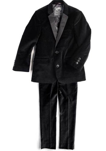 Appaman Appaman Mod Boys Slim Black Velvet Suit Q8SU8