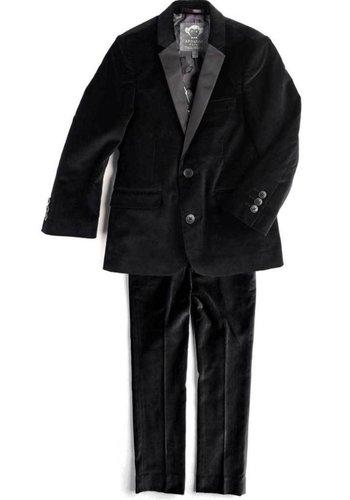Appaman Appaman Mod Boys Slim Black Velvet Suit