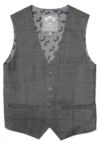 Appaman Appaman Tailored Wales Check Vest Q8TV2-CW