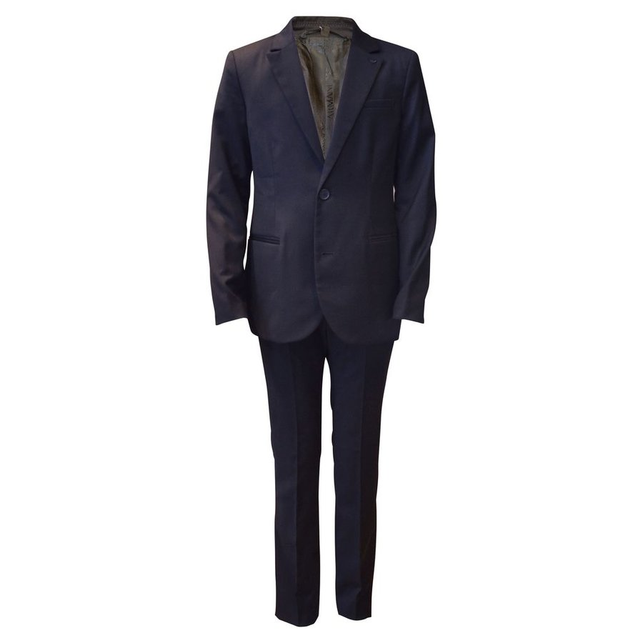 Armani Junior Classic Navy Slim Wool Suit