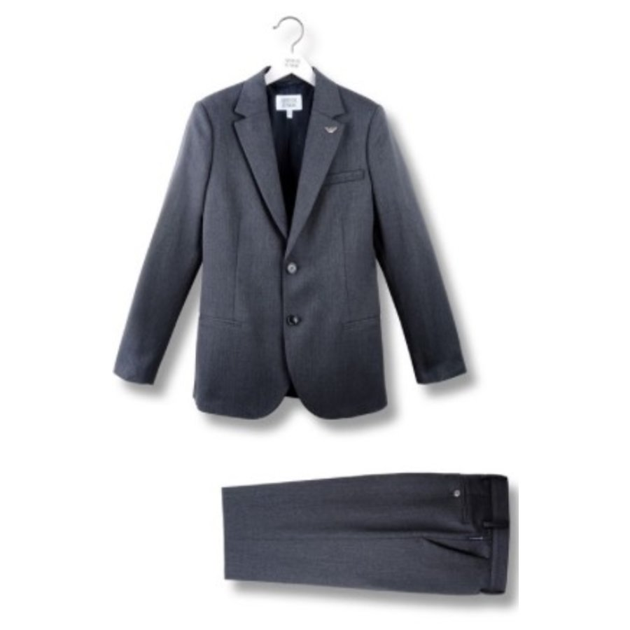 Armani Junior Classic Charcoal Grey Slim Wool Suit