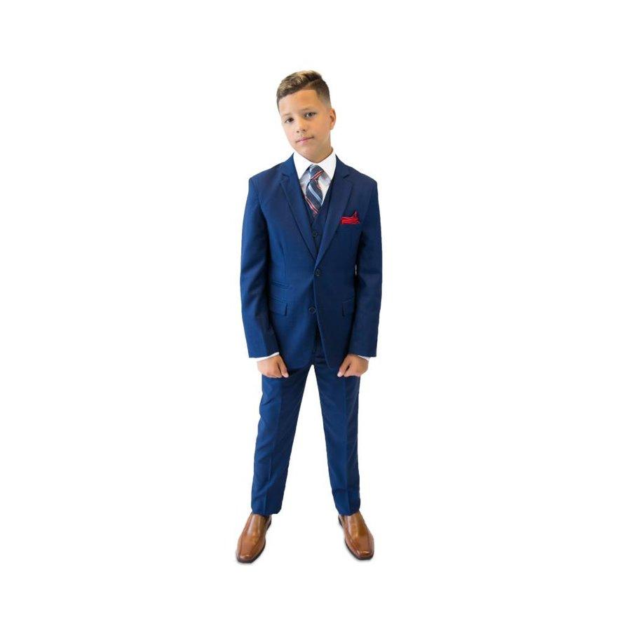 Isaac Mizrahi Boys Slim 3 Piece Suit Micro Gingham 172 ST2069