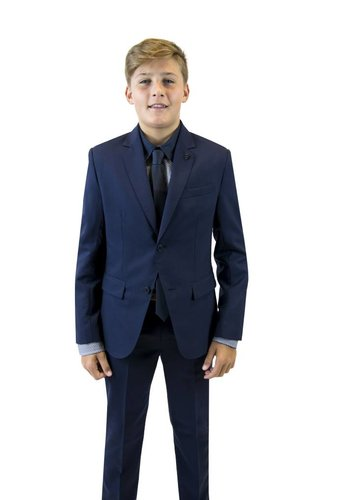 Hugo Boss Hugo Boss Boys Classic Slim Navy Wool Suit
