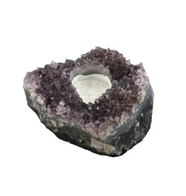 Amethyst Druze Quartz Candle Holder
