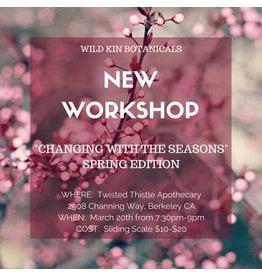 Workshop Ticket-Seasonal Wellness with Dana-March 20, 2018