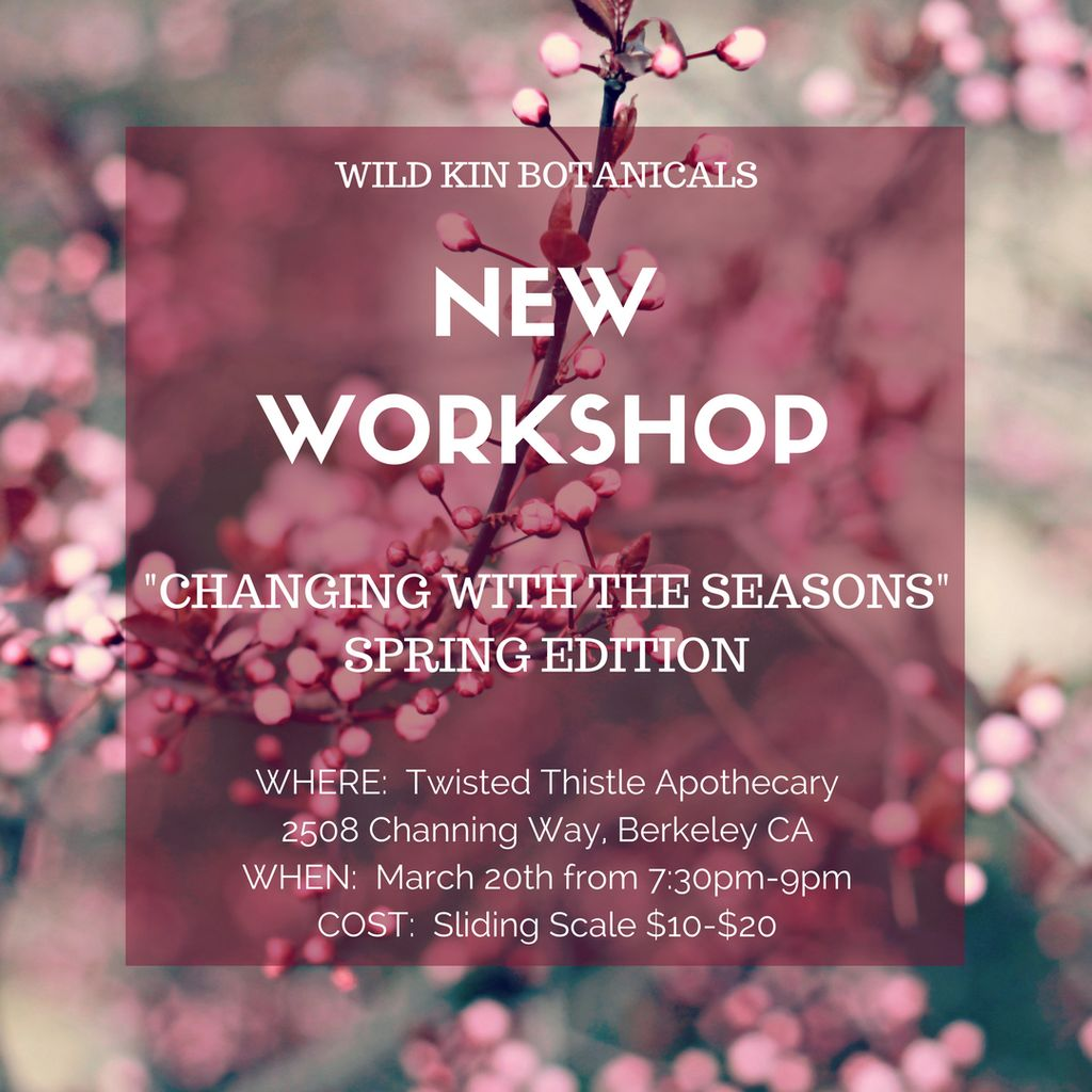 Workshop Ticket-Seasonal Wellness with Dana-March 20, 2018