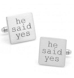 He Said Yes Cufflinks