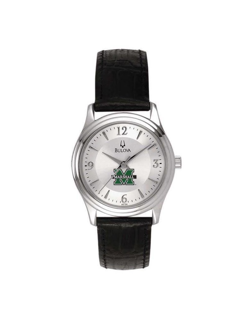 Marshall University Women's Bulova Round Leather Watch