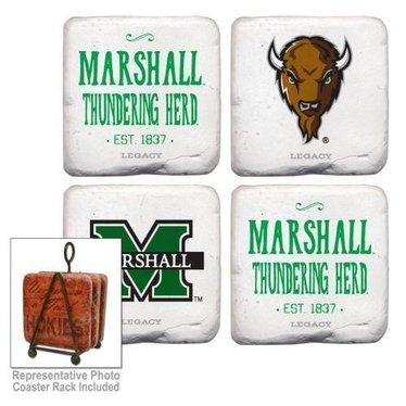 Marshall University Vintage Coasters-Thundering Herd