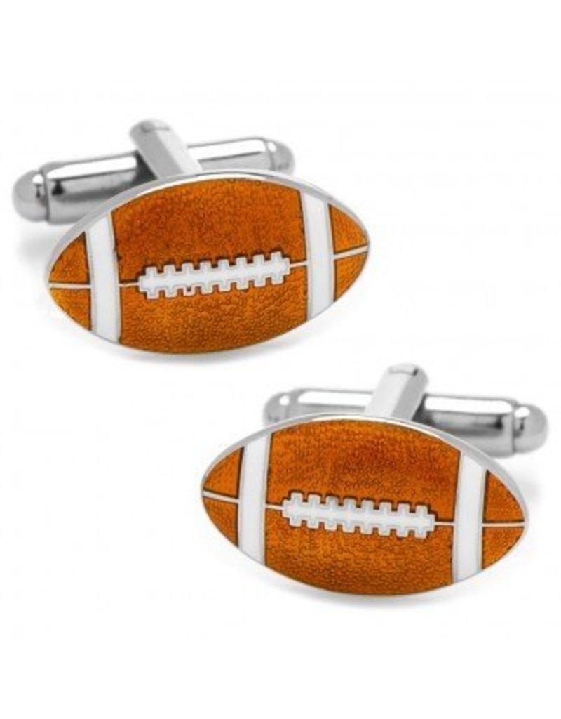 Enamel Cufflinks-Football