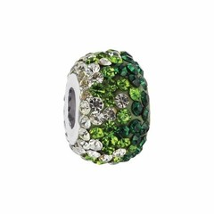 Collegiate Bead Company Green Crystal Fade Bead
