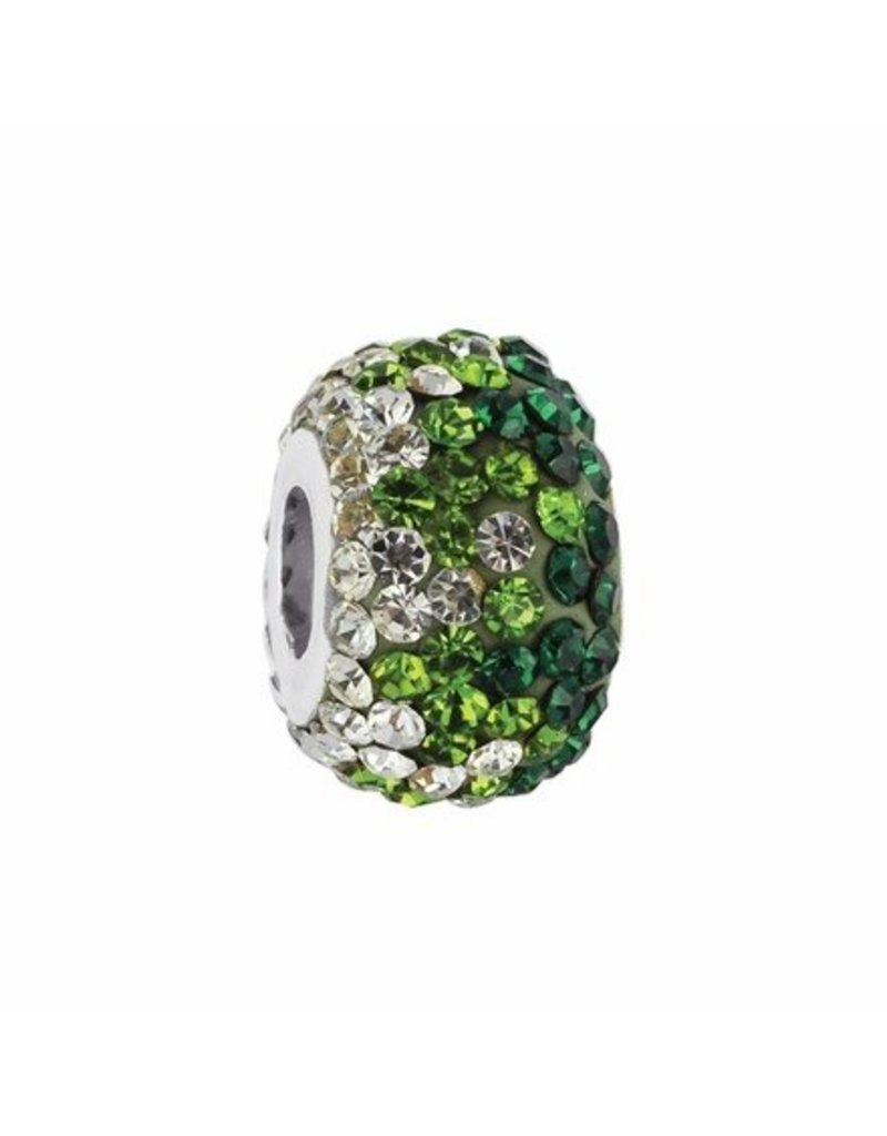 Collegiate Bead Company Green Crystal Fade Bead