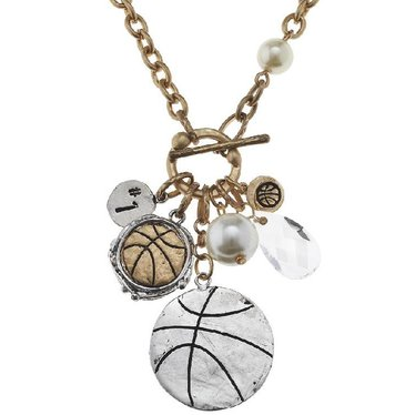 Basketball Charm Necklace