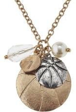 Basketball Disc Necklace