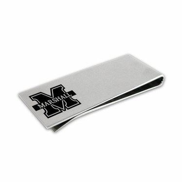 Collegiate Bead Company Marshall University Stainless Money Clip