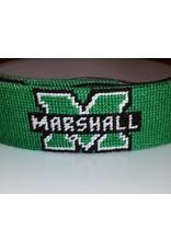 Smathers and Branson Marshall University Smathers & Branson Needlepoint Belt