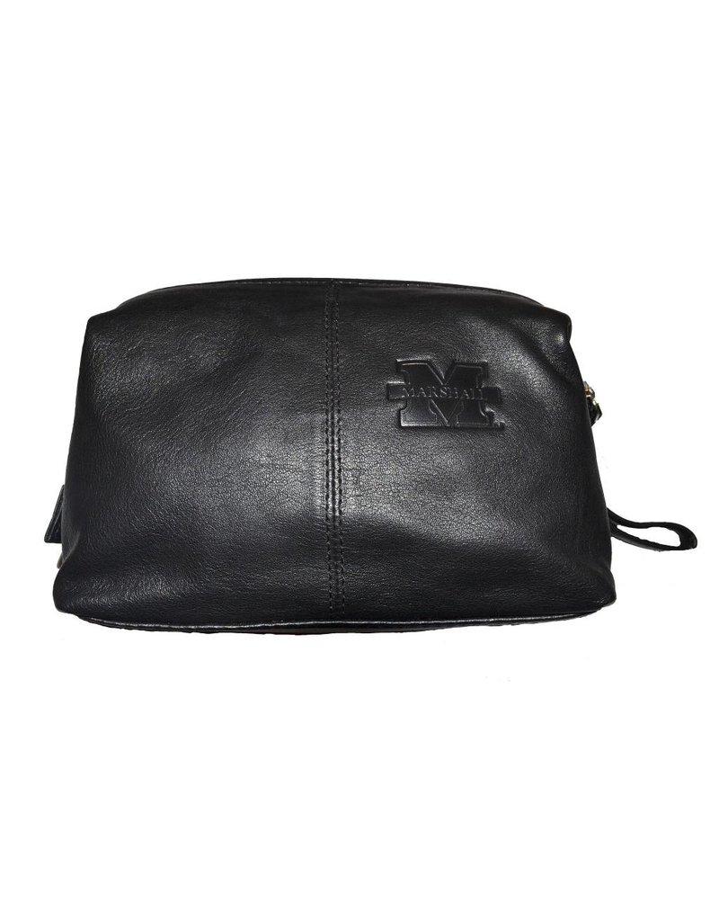Old Main Exclusive Marshall University Leather Dopp Kit