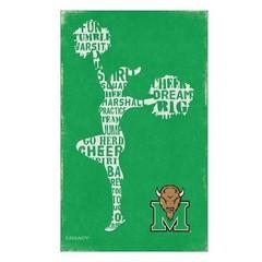 "Marshall Cheerleader Dreams Banner 24""x 46"""