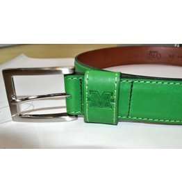 Marshall University Men's Green Leather Belt