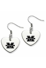 Collegiate Bead Company Marshall University Heart Drop Earrings