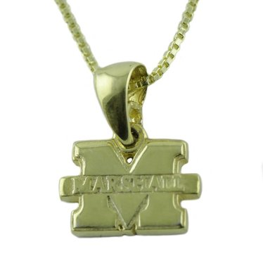 "Marshall University ""M"" Gold-Plated Necklace"