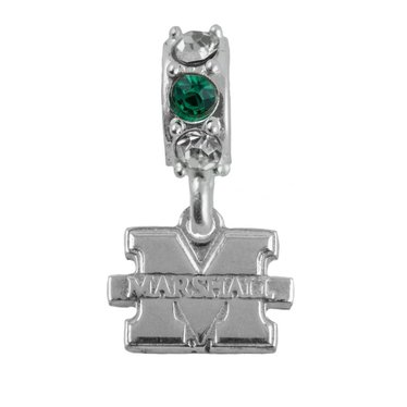 "Marshall University ""M"" and Crystal Bead"