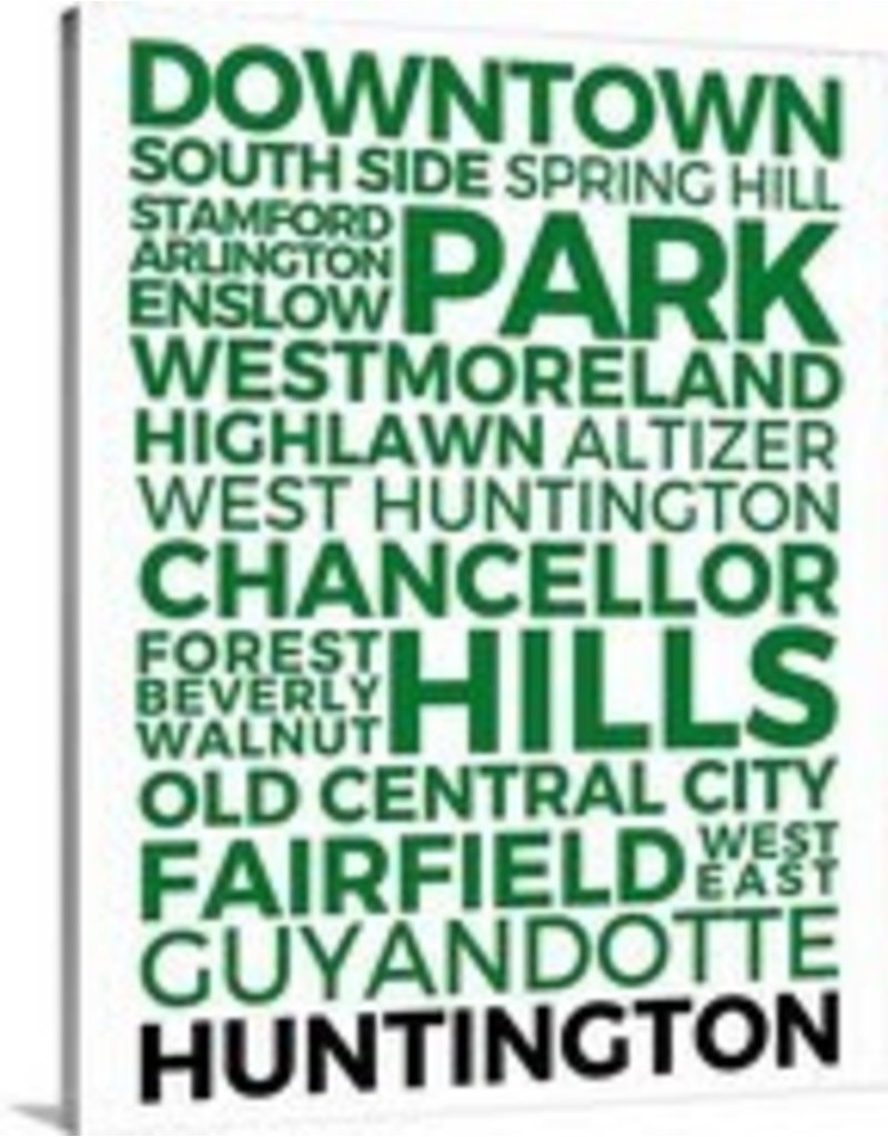 Huntington Neighborhoods Canvas