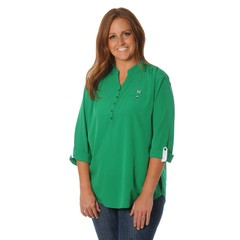 University Girls University Girls Marshall University Plus Roll-Sleeve Tunic