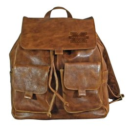 Marshall University Westbridge Leather Rucksack