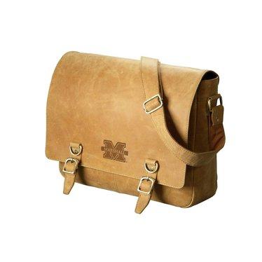 Marshall University Hunter Leather Messenger Bag