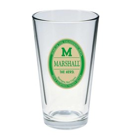 Marshall University 16 oz Pint Glass