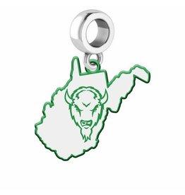 Collegiate Bead Company Marshall University Logo State Bead